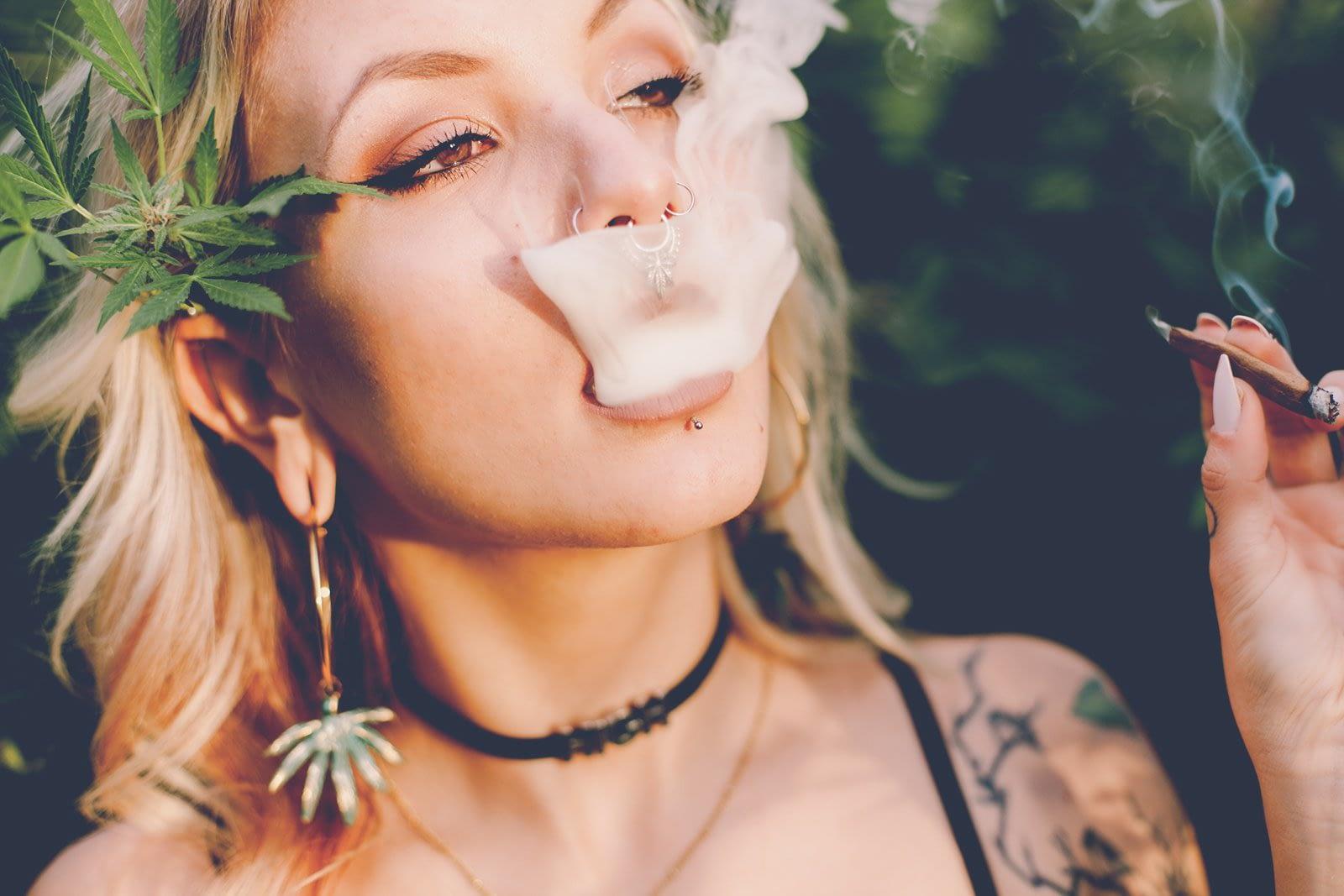 Weed smoking Girl