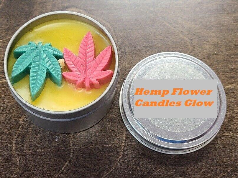hemp flower candles